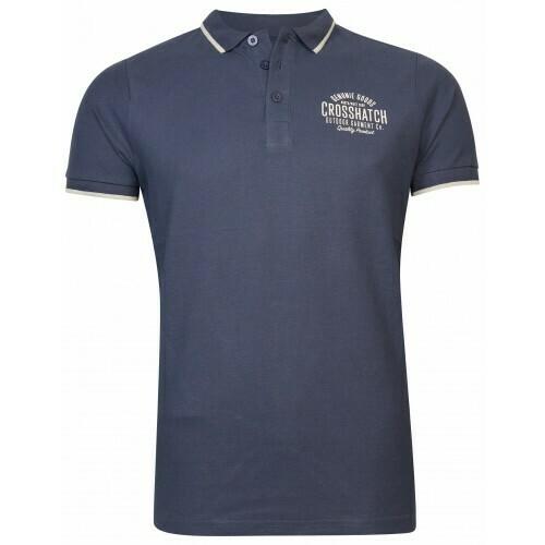 Polo shirt Seton jeans blauw