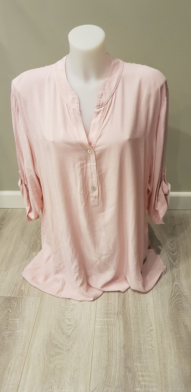 Plus size blouse roze
