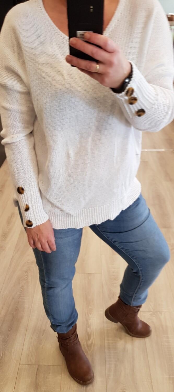 Katoenen trui wit