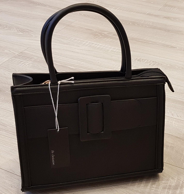 Zwarte gesp tas