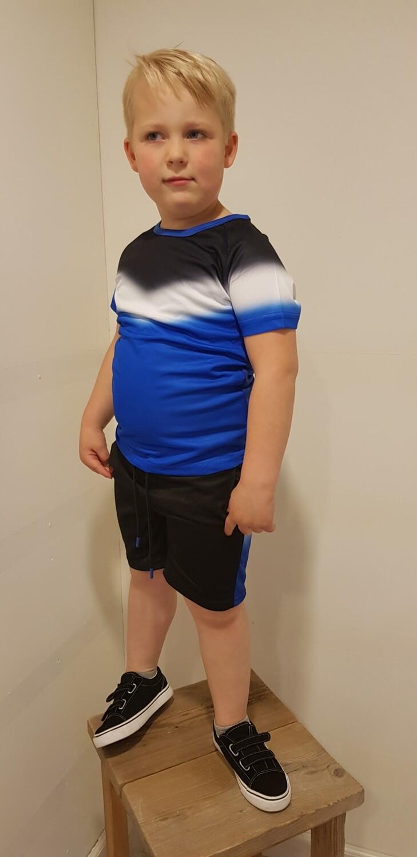Sportsetje zwart met blauw