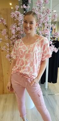 Zebra top roze