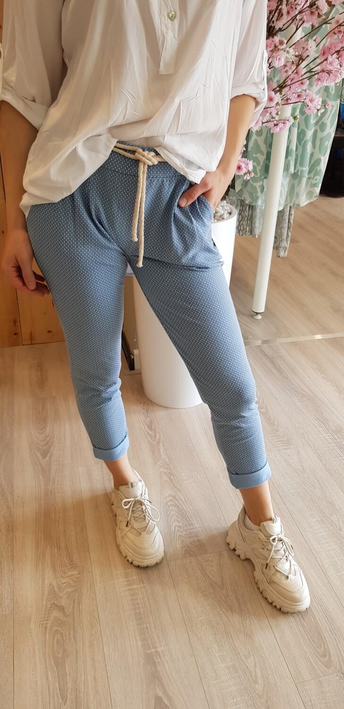 Jog pantalon licht blauw met design