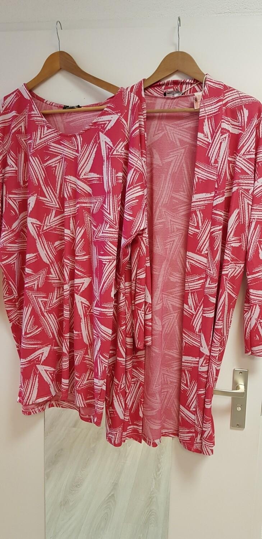 Driehoek tuniek hard roze