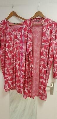 Driehoek vest hard roze