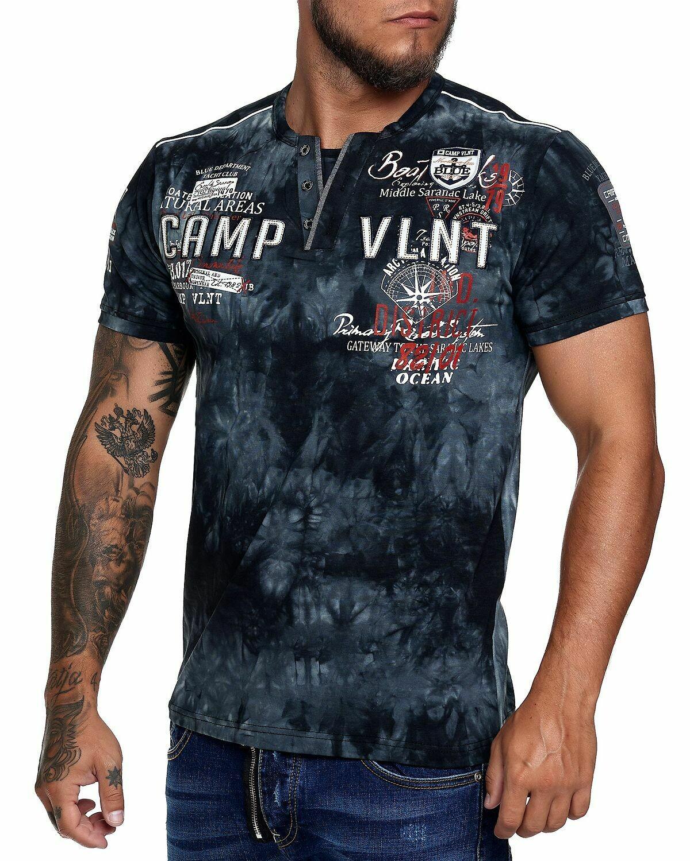 Violento tshirt Camp vlnt zwart