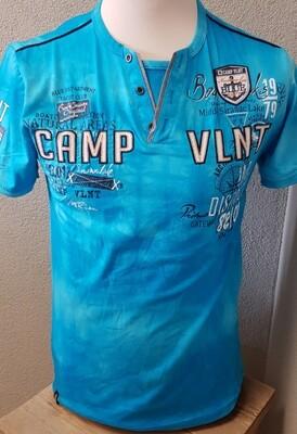Violento Tshirt Camp vlnt licht blauw