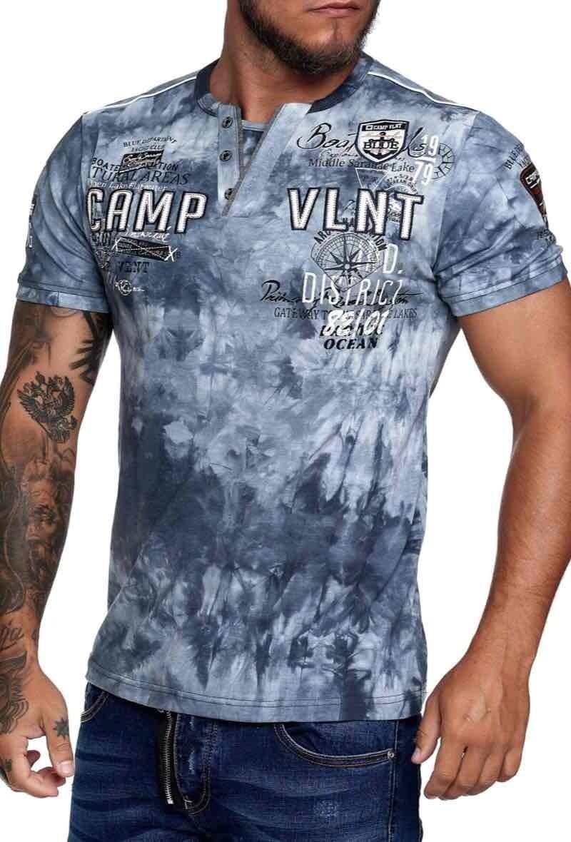 Violento Tshirt Camp vlnt grijs