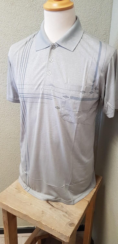 Polo shirt monday grijs