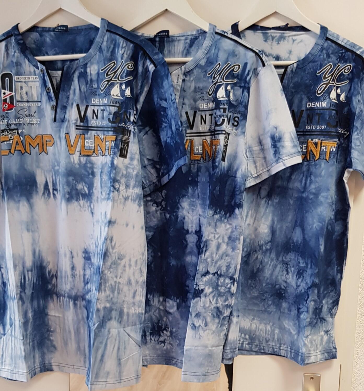Violento Shirt blauw Camp oranje