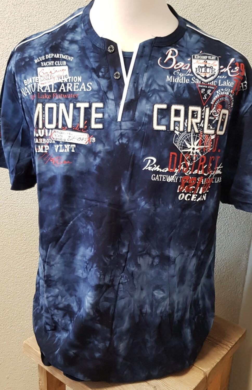 Violento shirt Monte Carlo donker blauw