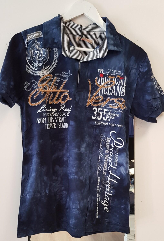Violento Polo shirt donker blauw
