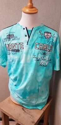 Violento shirt Monte Carlo Big Size Turquase