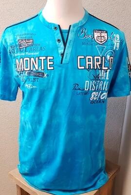 Violento shirt Monte Carlo Big Size felblauw