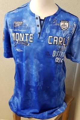 Violento shirt Monte Carlo Big size licht blauw