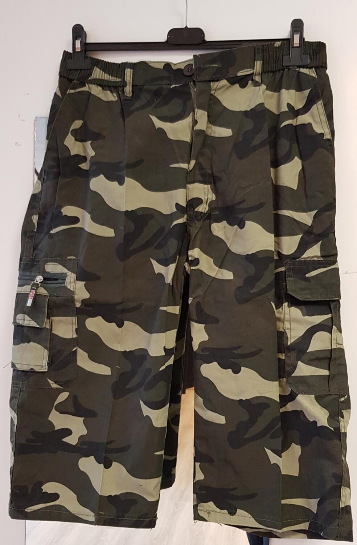 Army short groen beige