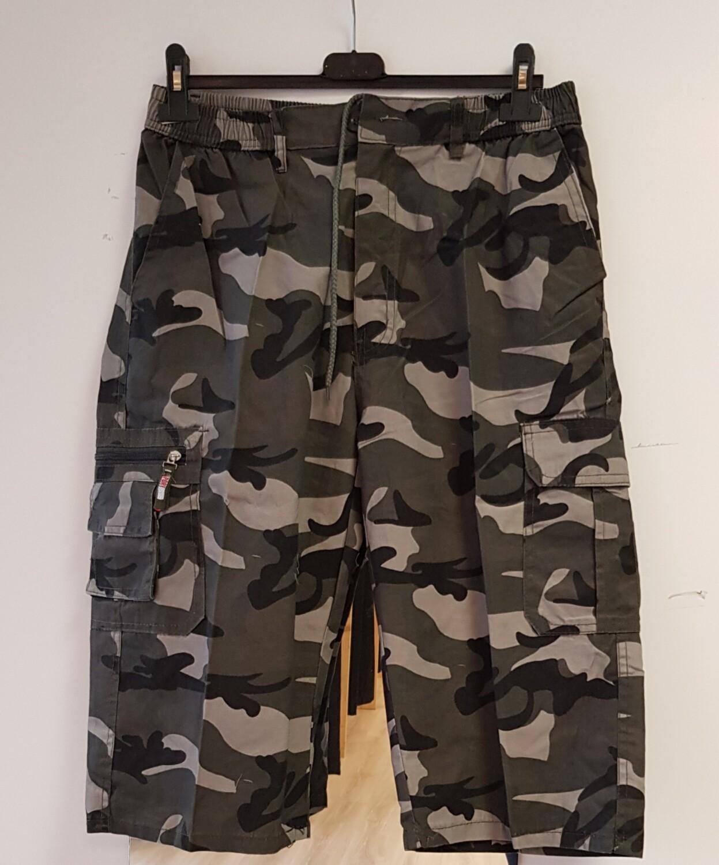 Army short bruin grijs