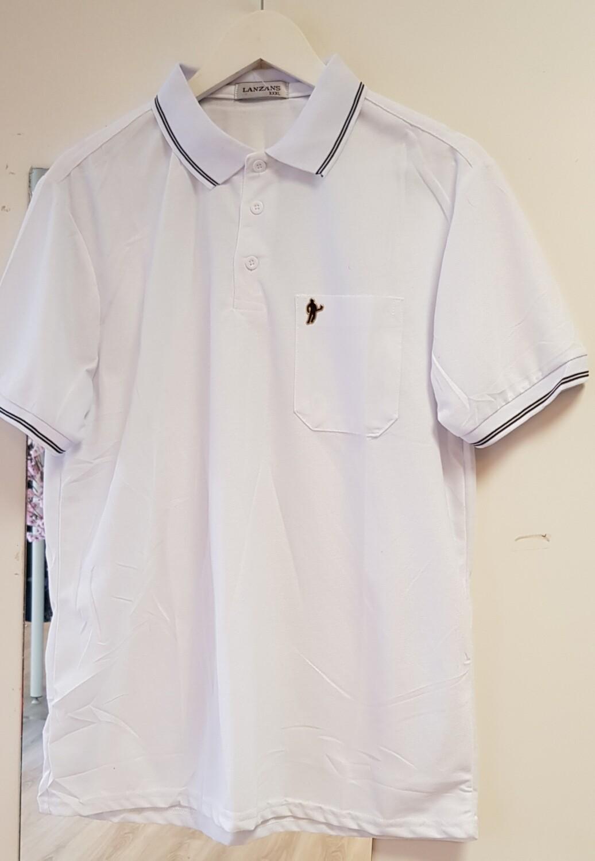 Poloshirt Lanzans wit