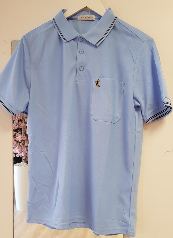 Poloshirt Lanzans licht blauw
