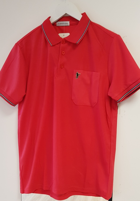 Poloshirt Lanzans rood
