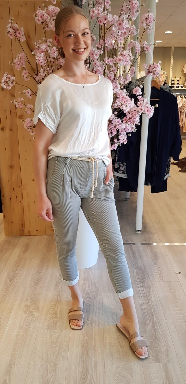Jog pantalon groen met witte streep