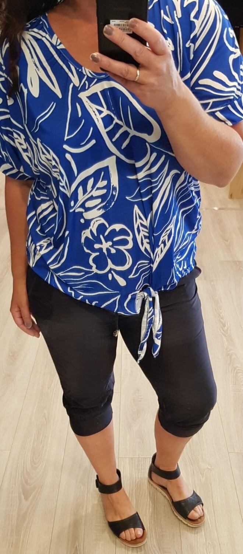 Shirt Sketch Kobalt blauw