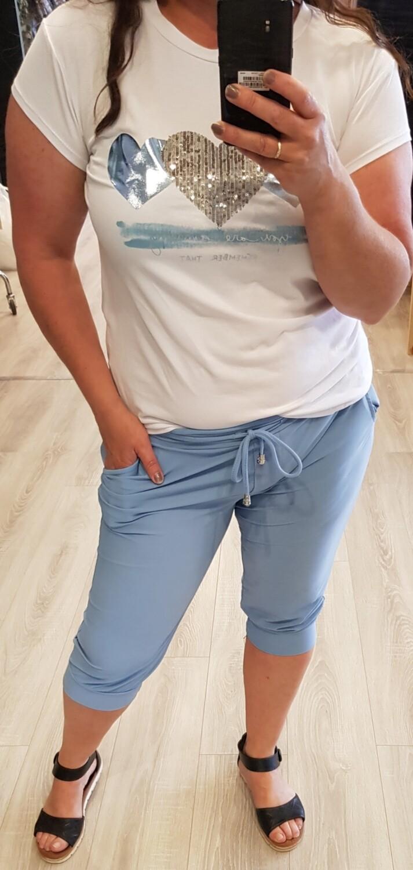 Tshirt hart wit blauw
