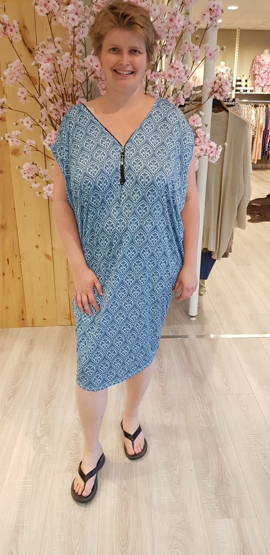 Oversize tuniek/jurk Marie blauw