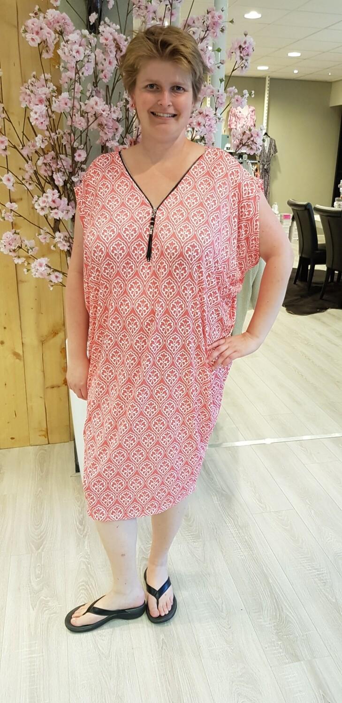 Oversized tuniek/jurk Marie koraal