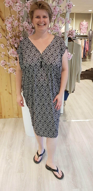 Oversized tuniek/jurk Marie zwart