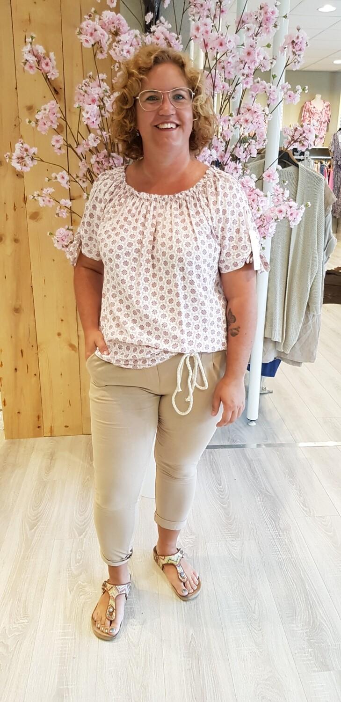 bohemian blouse roze