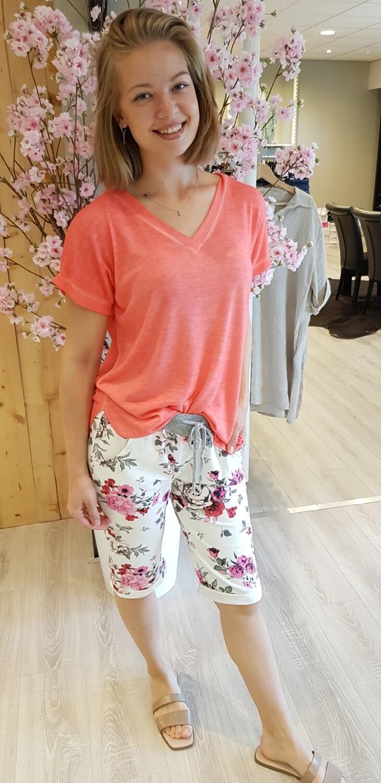 Jogging short Daisy roze