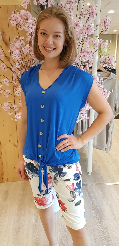 Jogging short Daisy bloem blauw