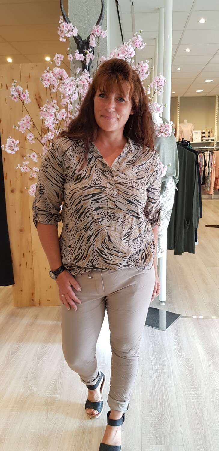 Blouse wave taupe