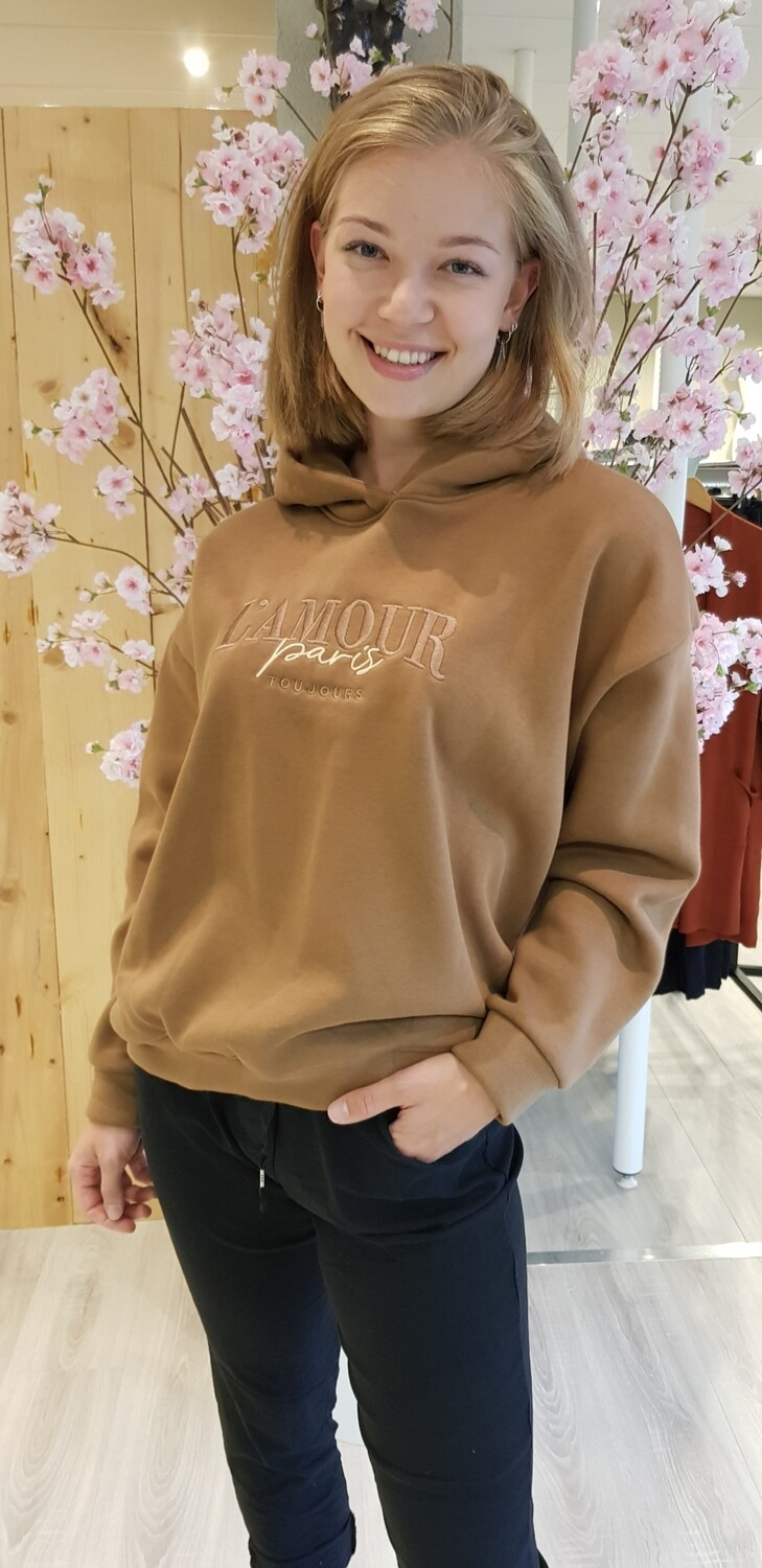 Hoodie L Amour Camel