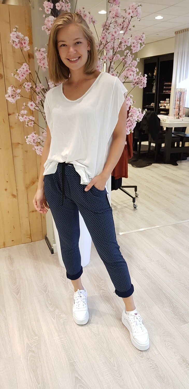Jog pantalon blauw design