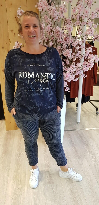 Longsleeve Romantic blauw