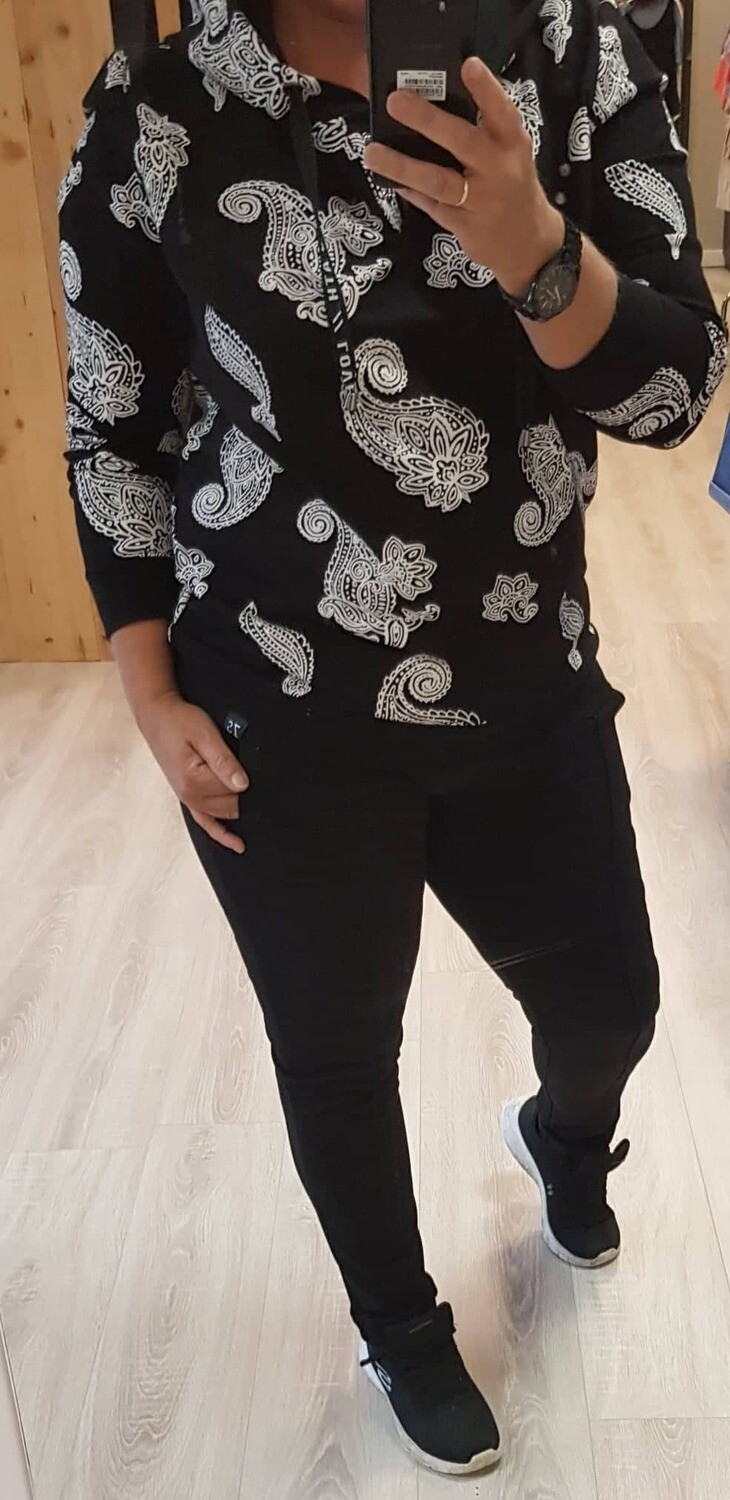 Hooded sweater With print Nice