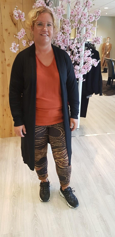 Jog jeans suedine herfst brique tint