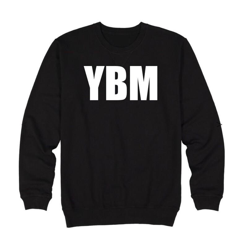 YBM Branded and Logo Sweatshirts and hoodies (two options each)