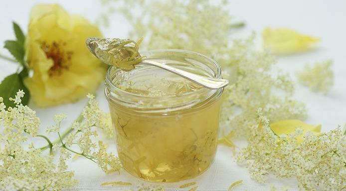 Champagne Elderflower Jelly - 4 oz, Jar
