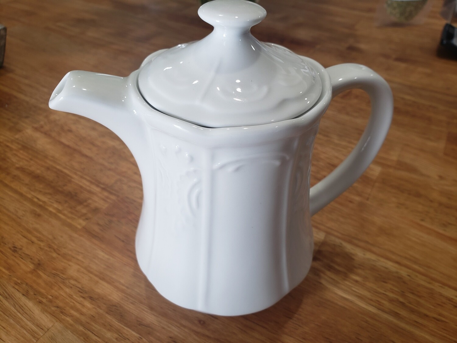 White China Teapot for Two