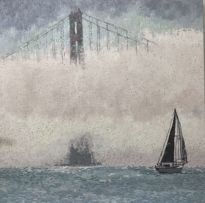 Golden Gate in the Fog, 48x48, Sold