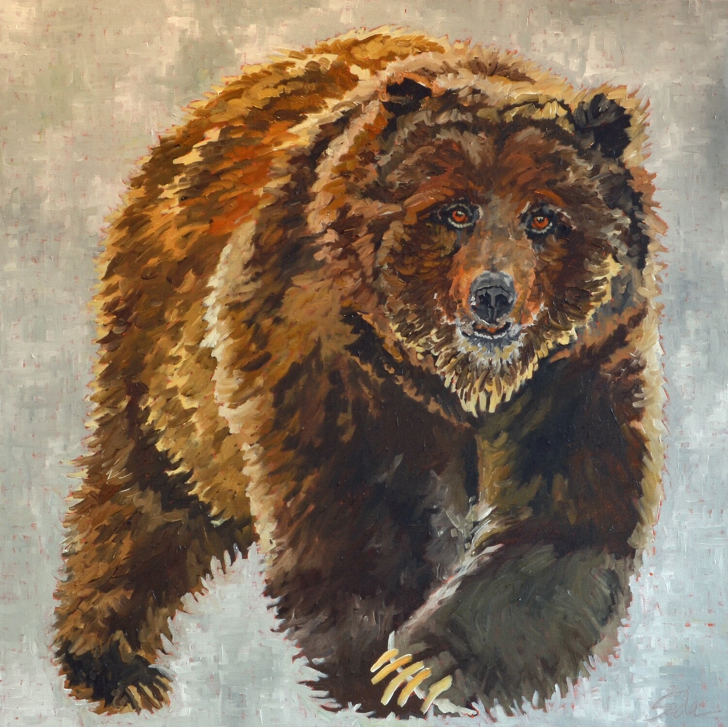 Grizzle, oil on canvas, 36x36, SOLD