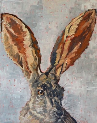 Jack Rabbit 2, oil on canvas,  16x20