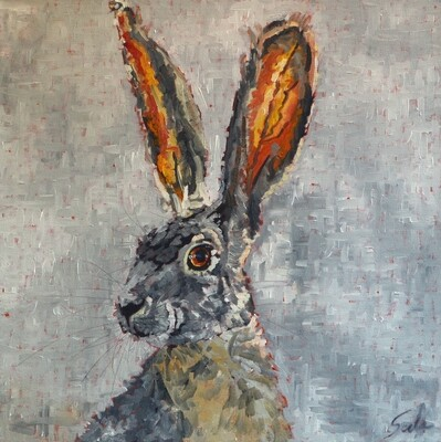 Jack Rabbit 1, oil on canvas, 24x24