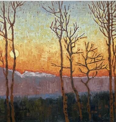 Sunset , 16x16