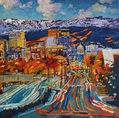 Boise's Capital Boulevard, 36x36, SOLD
