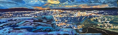Tablerock Sunset Over Boise, 60x20