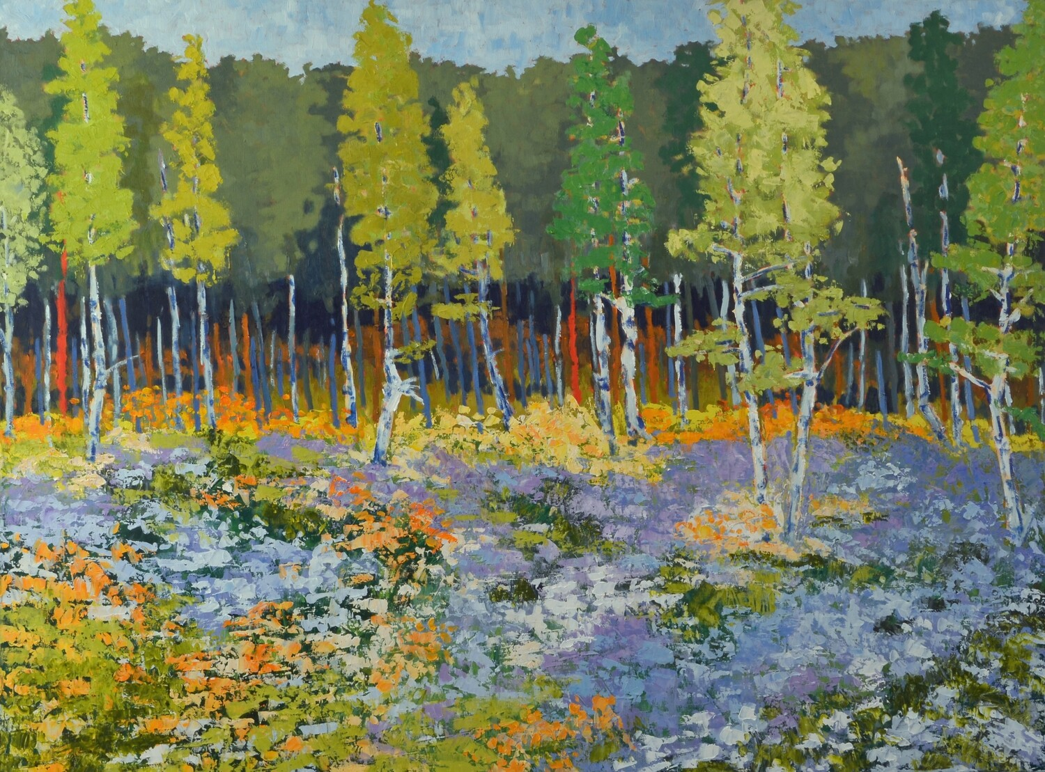Walk in the Aspens, SOLD 48x36, 2019